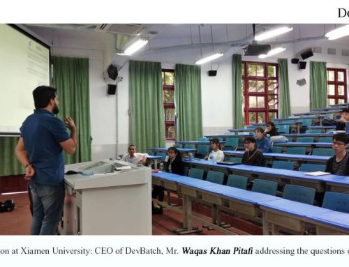 Xiamen University's Professor Qiu, Invites Guest Speaker Mr. Waqas Khan Pitafi, CEO of DevBatch